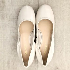 Nine West White Block Heel Shoes